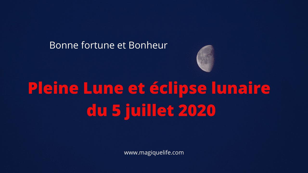 pleine lune du 5 juillet 2020