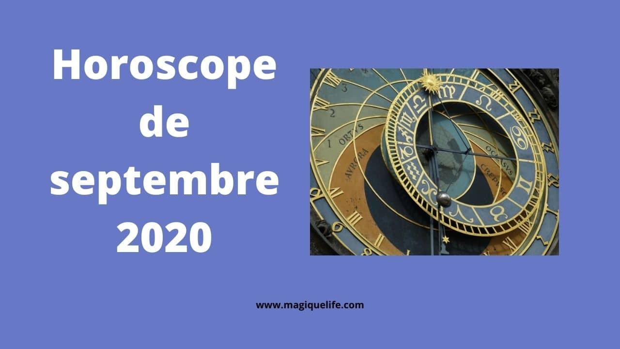 horoscope de septembre 2020