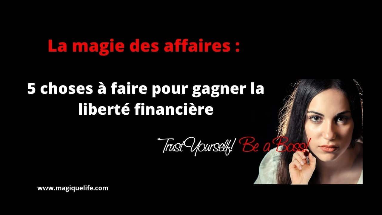 la liberté financière