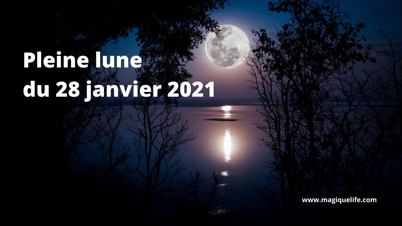 Pleine lune du 28 janvier 2021